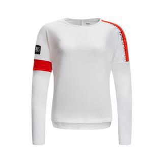 特步 女子春季运动健身舒适百搭长款针织衫881128039006