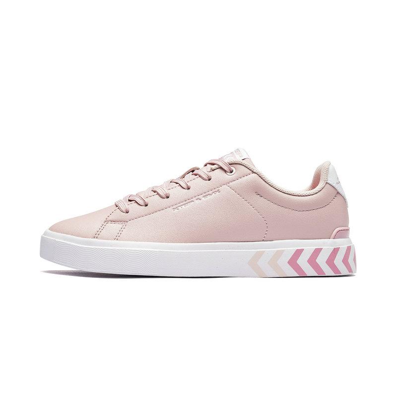 特步 专柜款 女子板鞋 2019春季新款时尚休闲百搭小白鞋981118316021