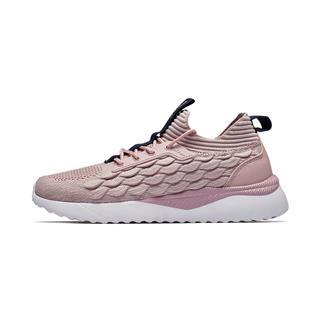 特步 专柜款 女子休闲鞋 2019春季新款休闲轻便透气运动鞋981118326806