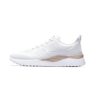 特步 专柜款 女子休闲鞋 2019春季新款简约休闲舒适耐磨运动鞋981118326868