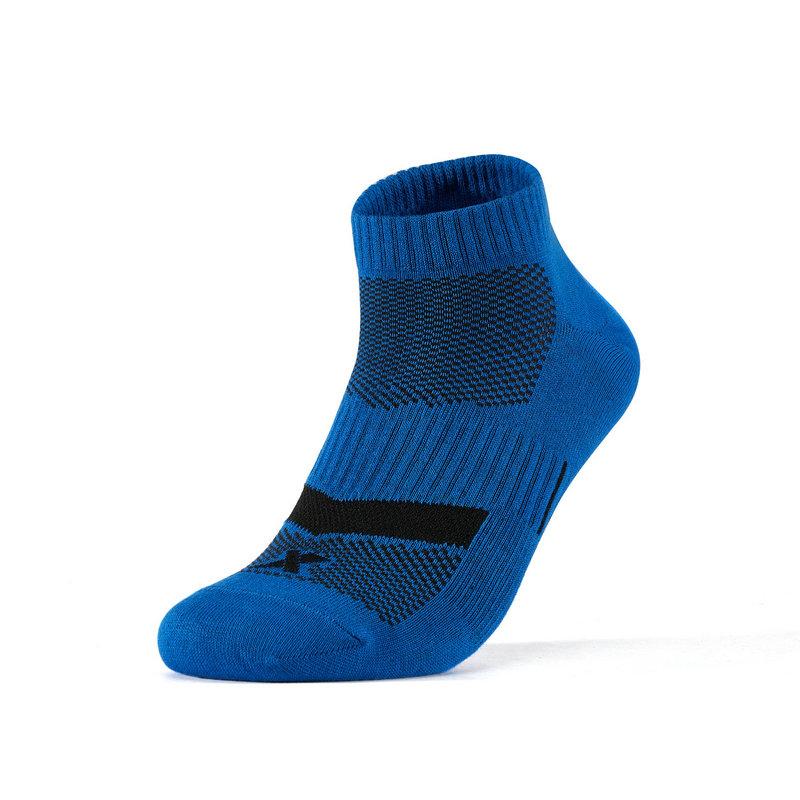 【抗菌功能袜】特步 男短袜 2019春季新品运动跑步休闲袜子黑色短袜881239549015