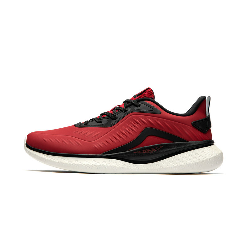 特步 专柜款 男子跑鞋 2019春季新款简约休闲革面耐磨舒适运动鞋981119110187