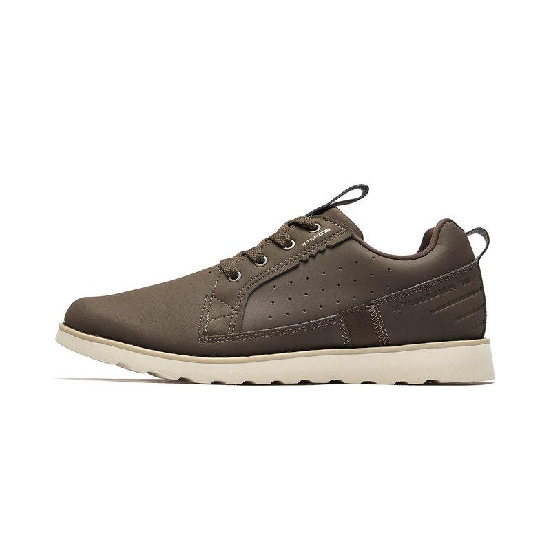 特步 专柜款 男子户外鞋 革面系带户外运动鞋981119171577