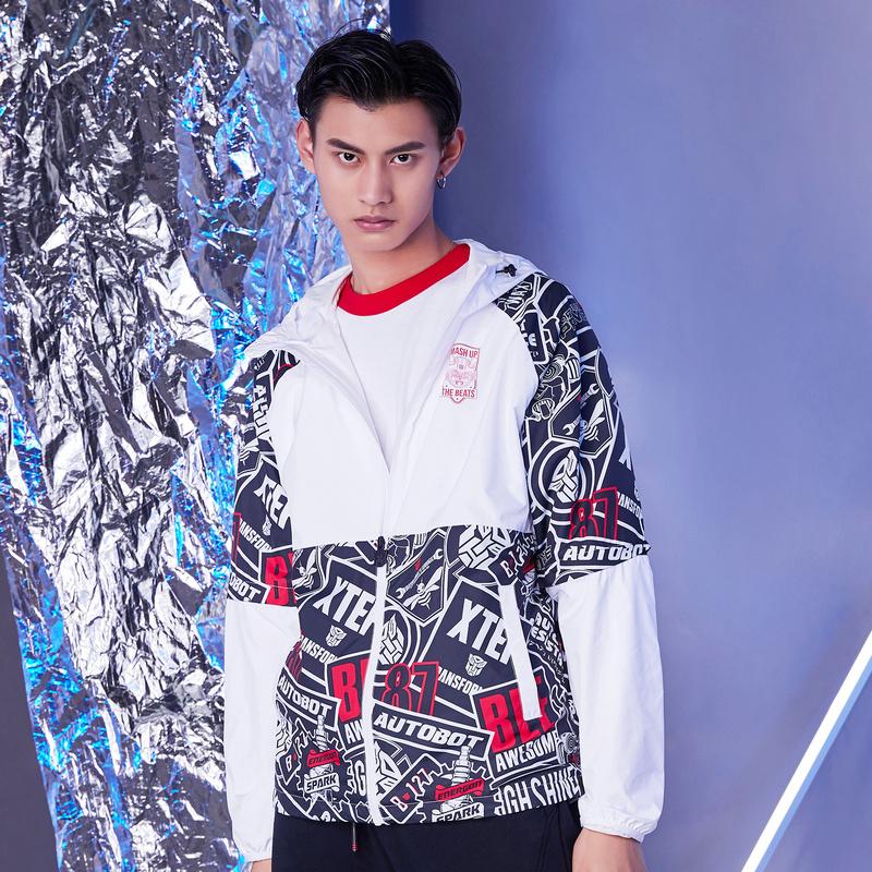 【变形金刚联名款】特步 专柜款 男双层夹克2019新款男加厚保暖外套时尚981129120857
