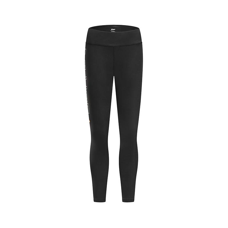 【满200减50】特步 女子春季新款运动健身专业紧身裤881128899002