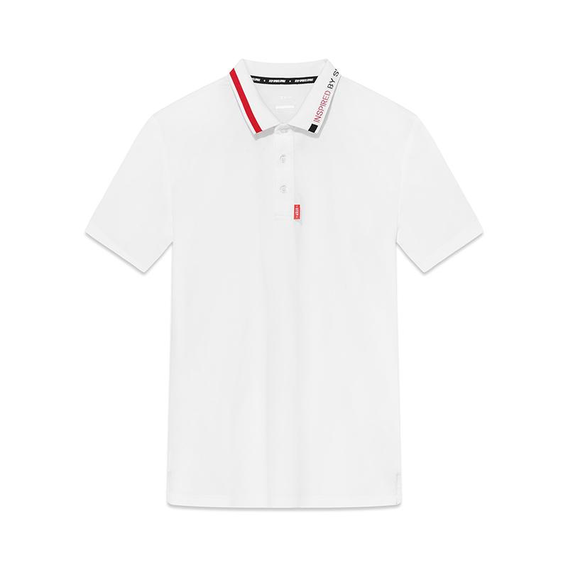 特步 男子春季都市活力运动舒适透气polo衫短袖881129029039