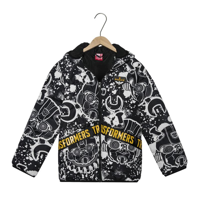 【变形金刚联名款】特步 专柜款 男童羽绒服 冬季新品保暖舒适儿童外套682425194111