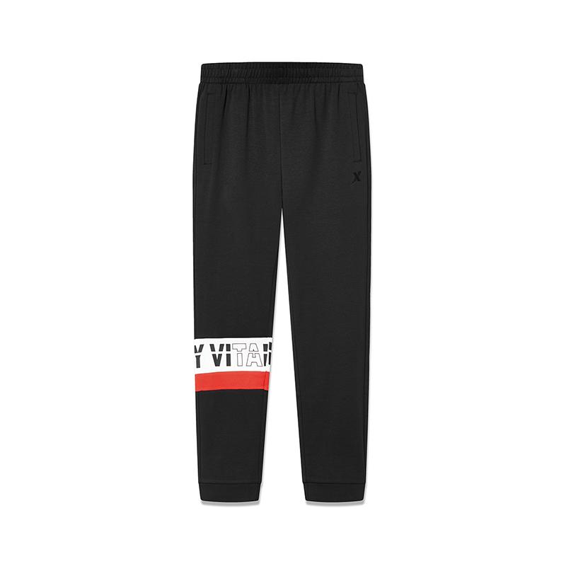 特步 男子春季活力运动舒适百搭针织长裤881129639029
