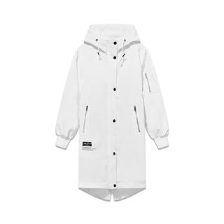 特步 专柜款 女子双层风衣 2019春季新款连帽风衣宽松中长款外套981128150411