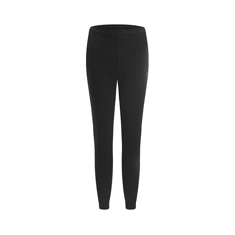 特步 专柜款 女子针织长裤 2019春季新款休闲跑步运动长裤981128631650