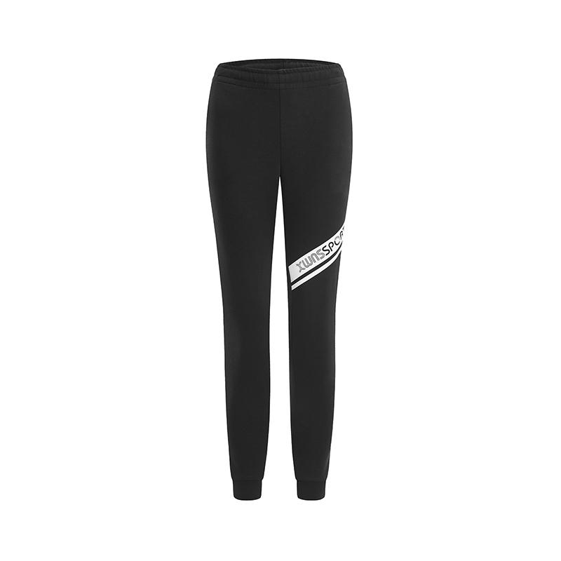 特步 专柜款 女子针织长裤 2019春季新款健身休闲舒适运动长裤981128631658