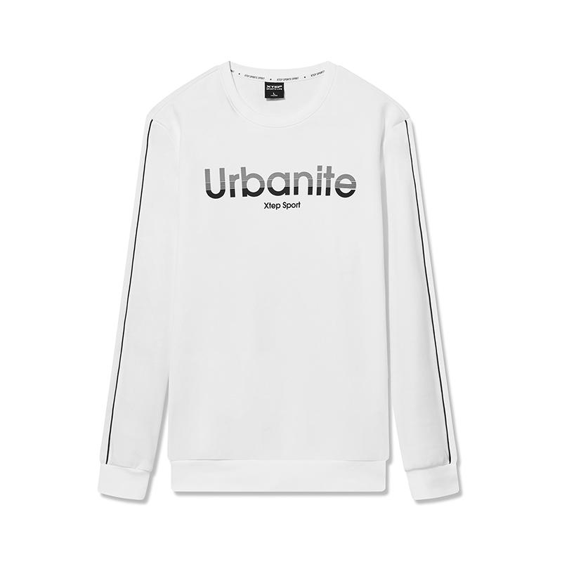 特步 专柜款 男子卫衣2019春季新款纯色简约字母都市男款卫衣981129051855