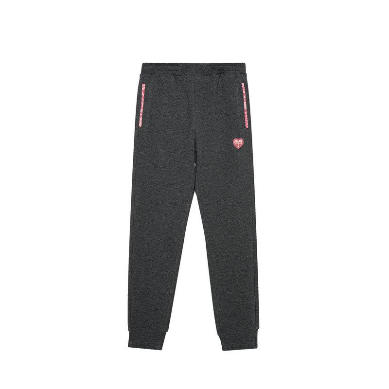 特步 女童春季新款舒适柔软百搭简约运动儿童针织长裤681124639033