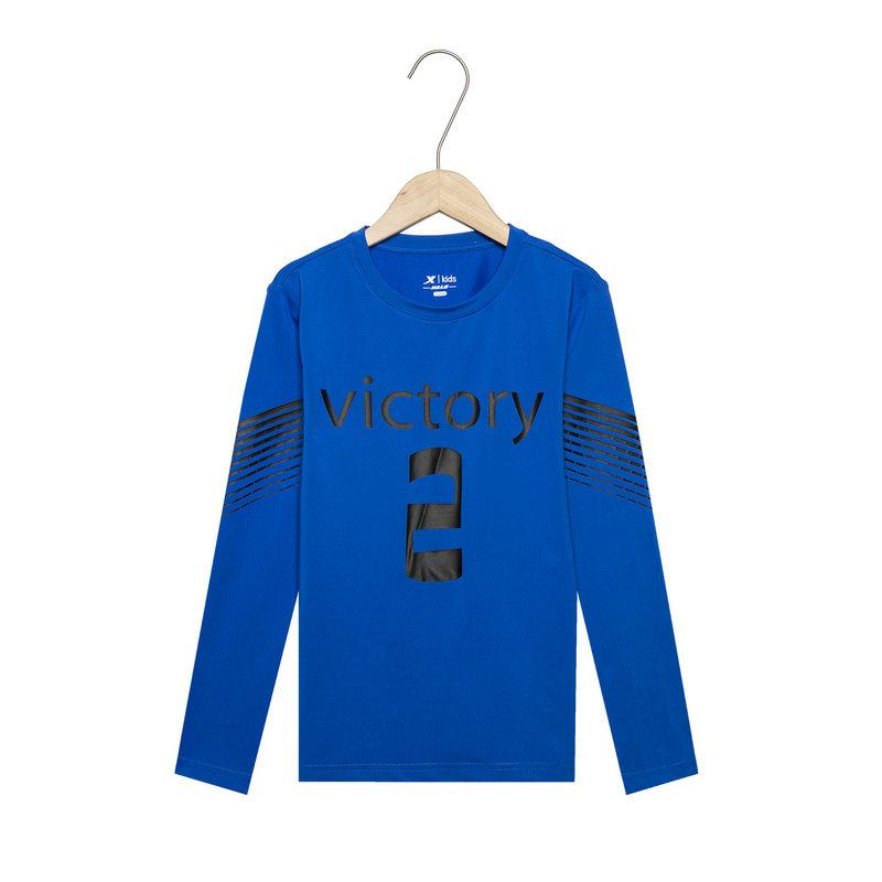 特步 男童春季新款圆领运动时尚柔软舒适儿童针织上衣681125039023