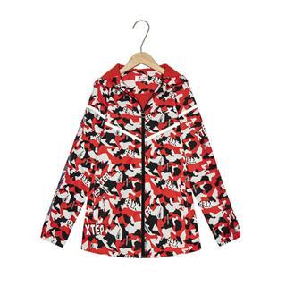特步 专柜款 男童都市春季新款迷彩系列儿童保暖风衣681125333045