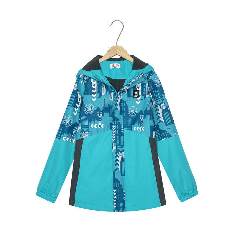 特步 专柜款 男童春季新款户外运动双层风衣儿童外套681125353083