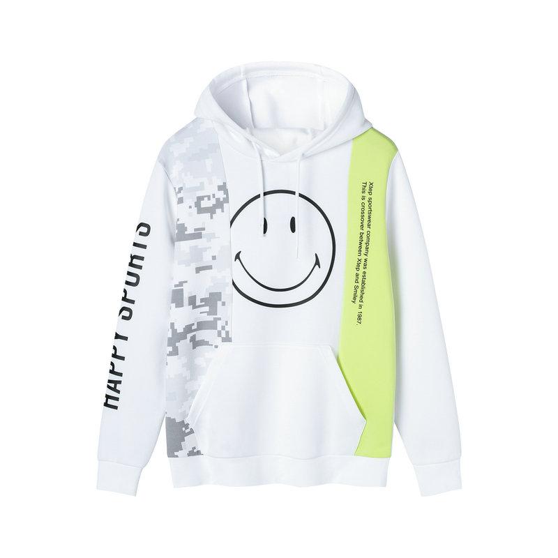 【smiley联名】特步 专柜款 男子卫衣 2019年春季新款连帽个性休闲学生上衣981129051887