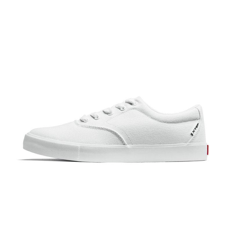 特步 运动鞋男鞋 春季新款男鞋子休闲鞋板鞋帆布鞋881119109250