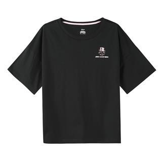 【地产大亨联名款】特步 女子短袖针织衫 宽松舒适休闲T恤881128019405