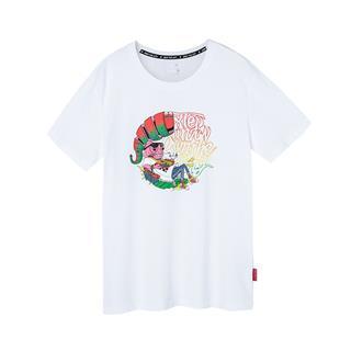 特步 男子短袖针织衫 新品图案风格街头运动T恤881229019229
