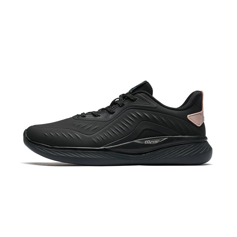 特步 专柜款 女子跑鞋 2019春季新款时尚革面耐磨防滑运动鞋981118110187