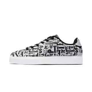 特步 专柜款 男子板鞋 2019春季新款潮流字母图案滑板鞋981119316178