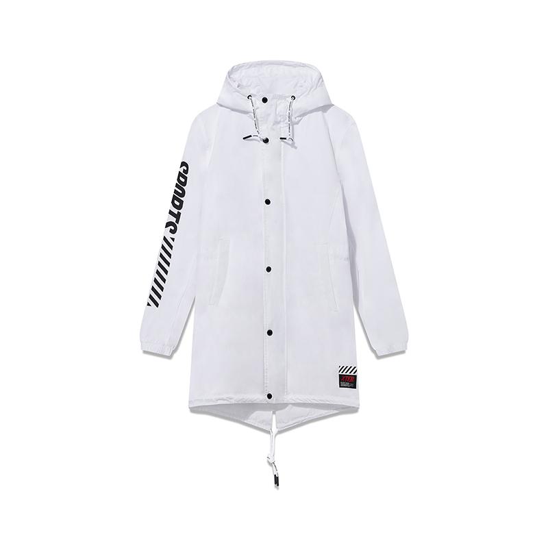 特步 专柜款 男子春季活力时尚百搭中长款双层风衣981129150414
