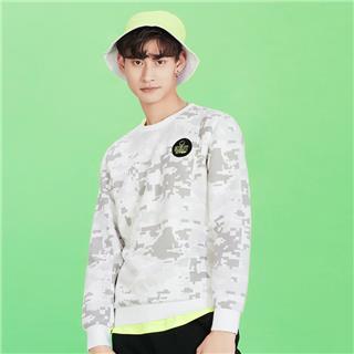 【smiley联名】特步 专柜款 男子卫衣2019春新款Smiley圆领针织上衣套头衫981129051886