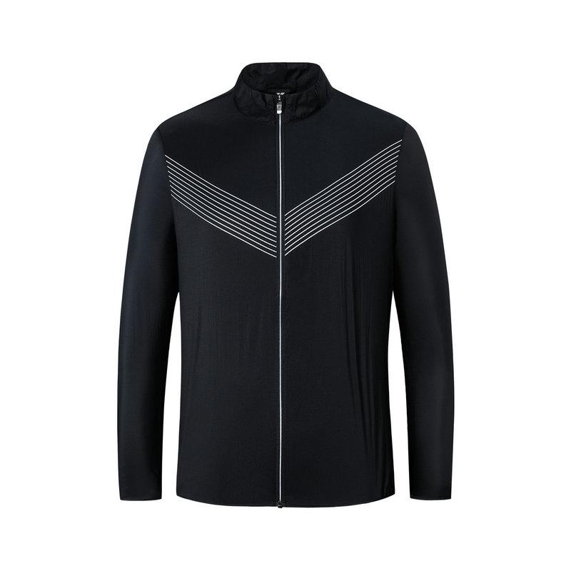 特步 专柜款 男子单风衣2019春季新款拉链开衫跑步综训运动外套981129140259