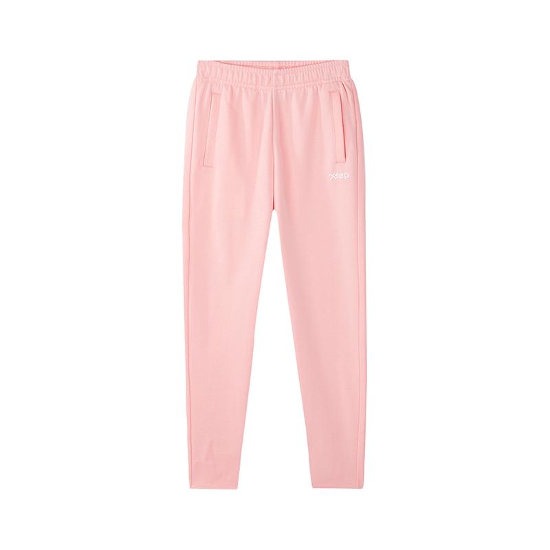 特步 儿童针织长裤 2019春季新款女童舒适休闲长裤881124639356