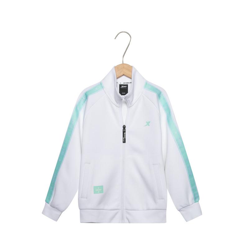 特步 儿童针织上衣 2019春季新款男女童时尚拉链针织外套881126069433