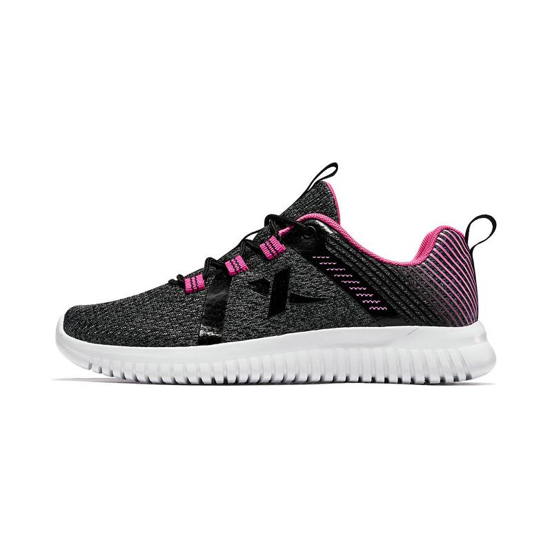 特步 儿童跑鞋 2019春季新款女童中大童时尚网面舒适透气运动鞋681114119167