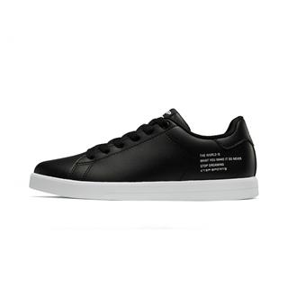 特步 女子板鞋 简约革面轻便舒适滑板鞋881218319859