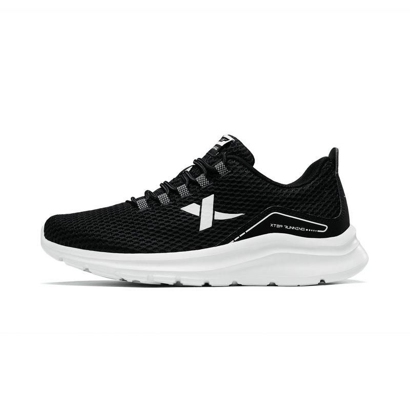 特步 女子跑鞋 2019夏季新款简约网面系带透气运动鞋881218119063