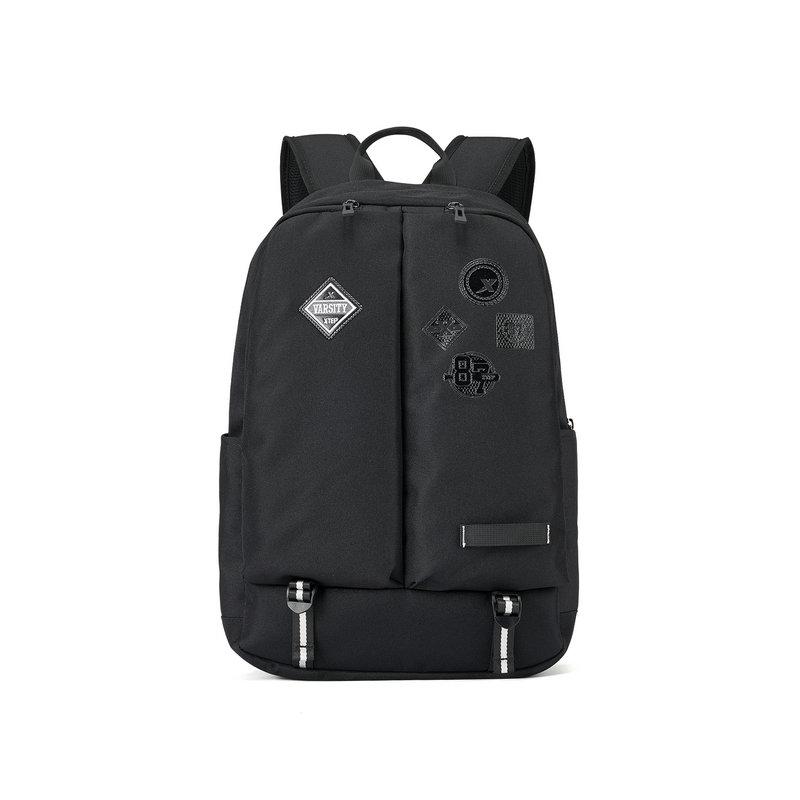 特步 男女双肩包 2019春季新款时尚几何线条书包旅游包881137119011