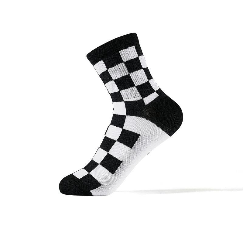 特步 女子长袜混色三双装 2019春季新款潮流嘻哈个性长袜881138569012