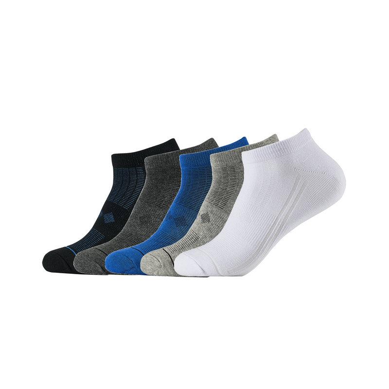 特步 男短袜混色五双装 2019春季新款舒适保暖简约休闲男袜881139549020