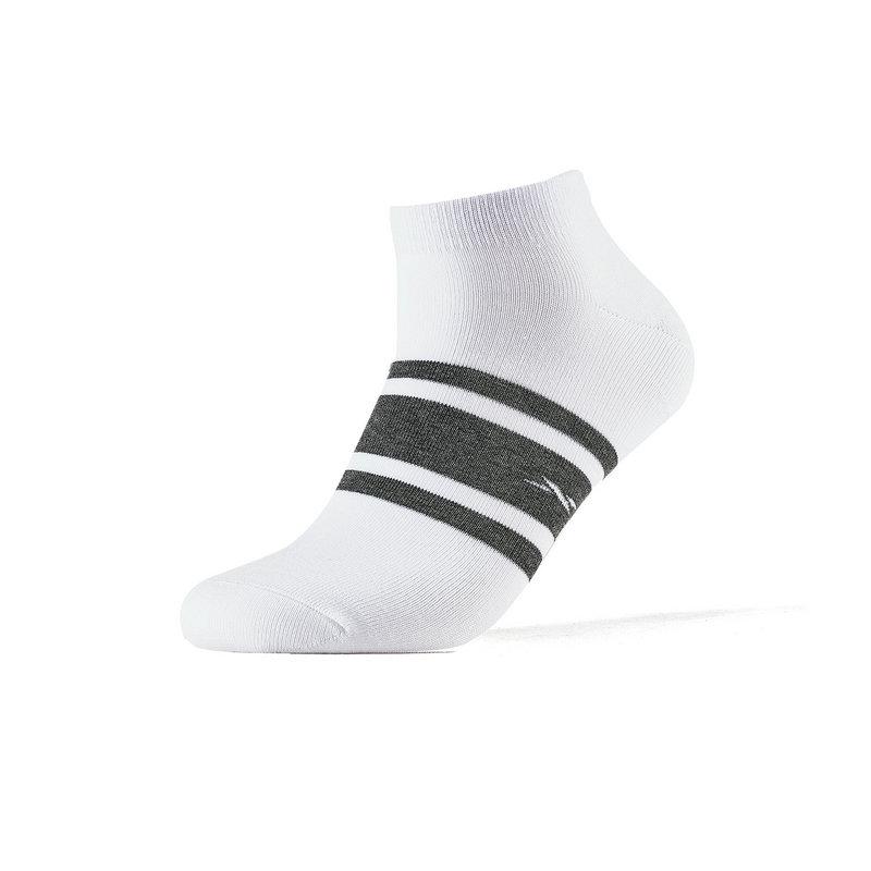 特步 男短袜混色五双装 2019春季新款简约条纹运动袜881139549022