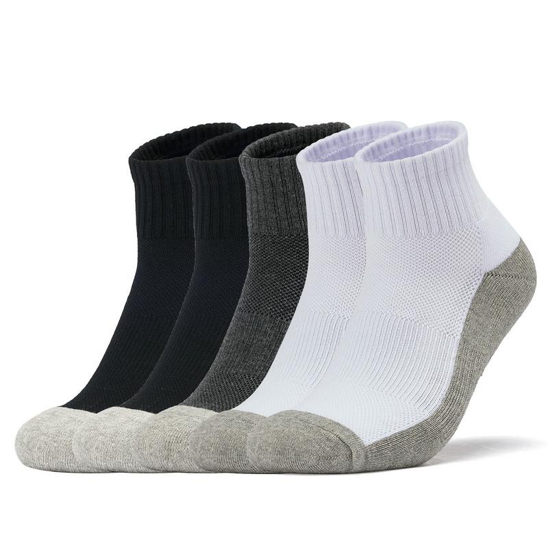 特步 男毛圈中袜五双装 2019春季新款舒适休闲运动袜881139559070
