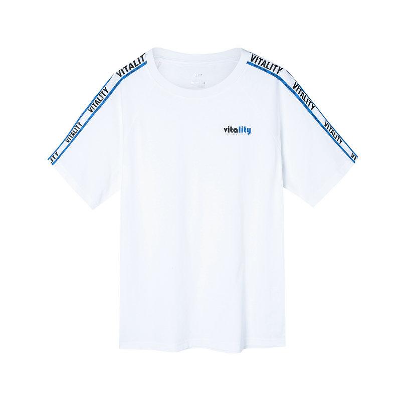 特步 女子短袖针织衫 2019夏季新款宽松简约T恤透气轻便夏装881228019010