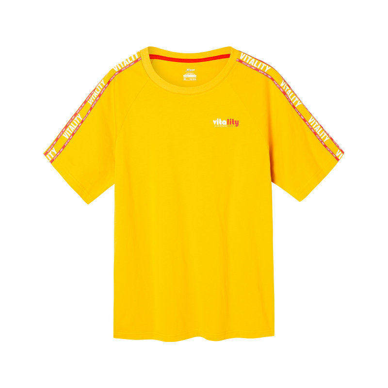 【景甜同款】特步 女子短袖针织衫 2019夏季新款宽松简约T恤透气轻便夏装881228019010