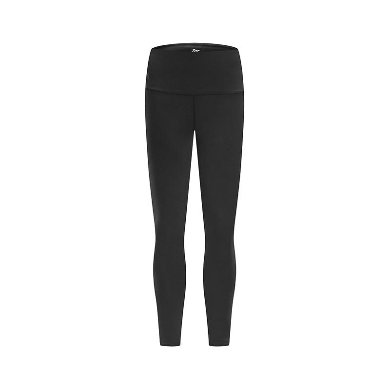特步 女子专业紧身裤 2019春季新款瑜伽跑步舞蹈训练弹力运动长裤881128899018