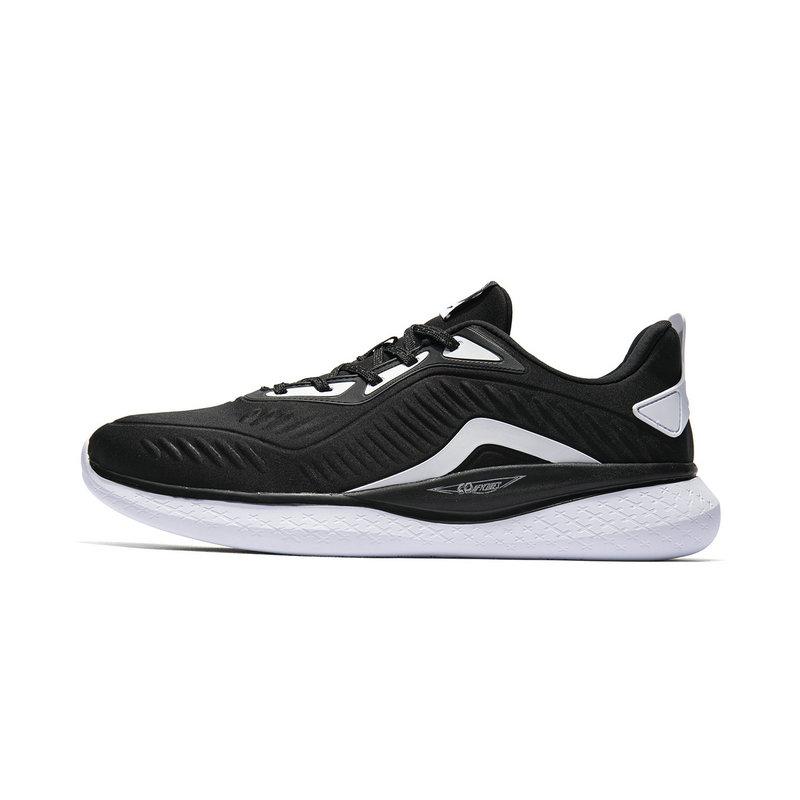 特步 专柜款 男子跑鞋 柔立方科技革面舒适轻便运动鞋981119110185