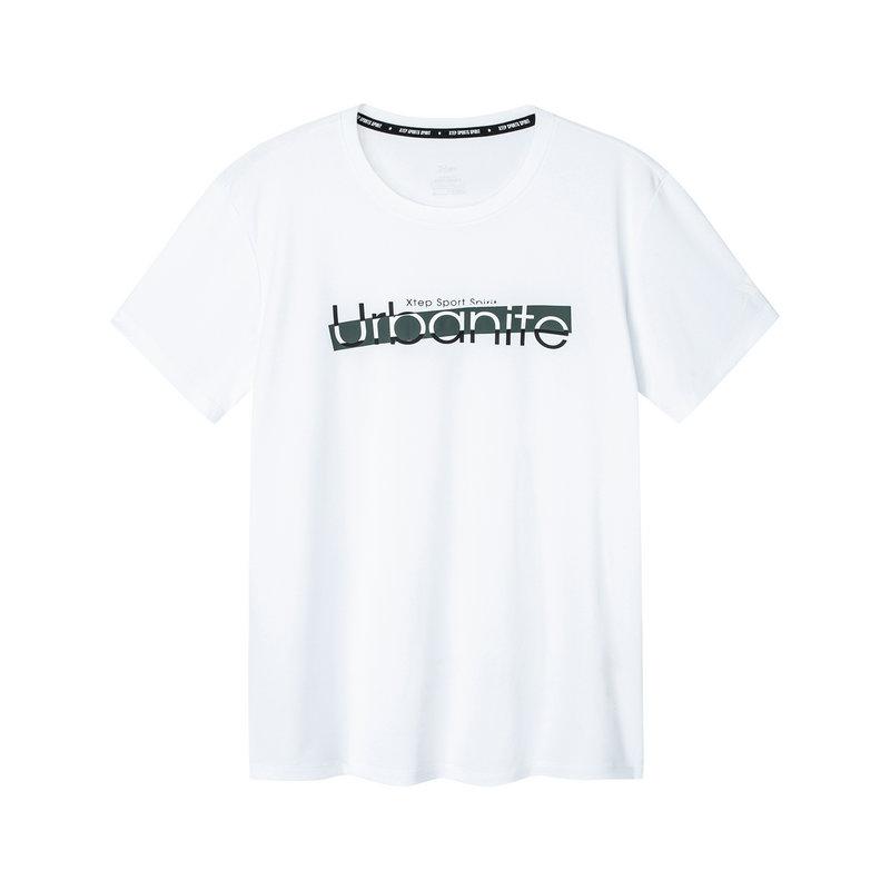 特步 男子短袖针织衫 2019夏季新款宽松舒适基础透气运动T恤881129019472