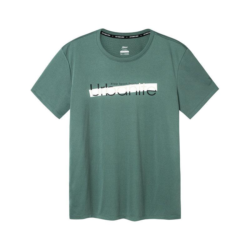 【2件99】特步 男子短袖针织衫 2019夏季新款宽松舒适基础透气运动T恤881129019472