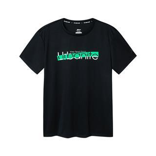 特步 男子短袖针织衫 宽松舒适基础透气运动T恤881129019472