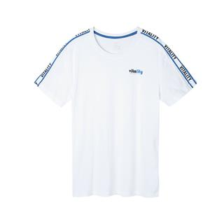 特步 男子短袖针织衫 2019夏季新款舒适时尚透气运动T恤881229019017