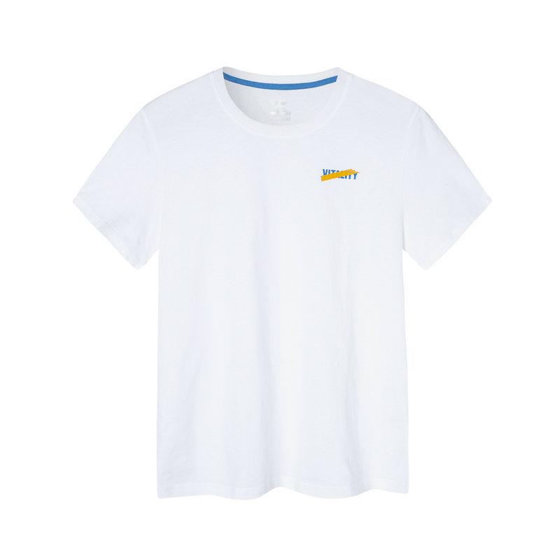 特步 男子短袖针织衫 2019夏季新款透气轻薄运动T恤881229019018