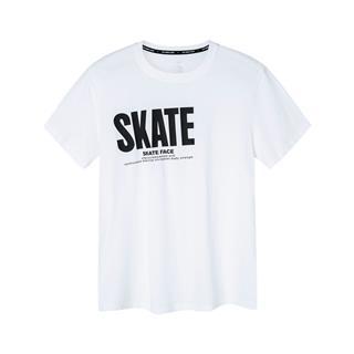 特步 男子短袖针织衫 字母印花透气舒适T恤881229019126