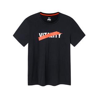 特步 男子短袖针织衫 宽松透气休闲T恤881229019028